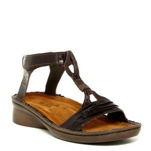 Naot Cymbal Grecian T Strap Leather Sandal Allegro